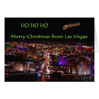 HO HO HO Merry Christmas from Las Vegas Card