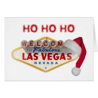 HO HO HO Merry Christmas Las Vegas Card
