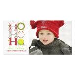 HO HO HO Merry Christmas Photo Greeting Customized Photo Card