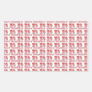 Ho Ho Ho Merry Christmas Rectangular Sticker