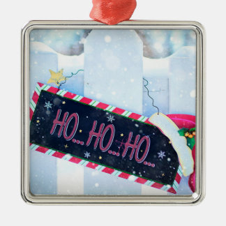 Ho Ho Ho Metal Ornament