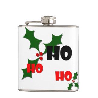 Ho Ho Ho Mistletoe Flask
