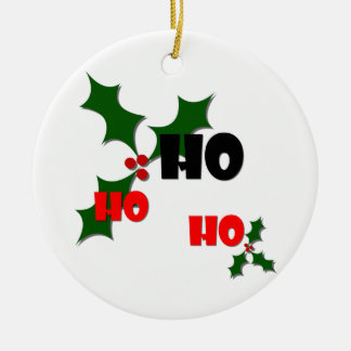 Ho Ho Ho Mistletoe Ornament
