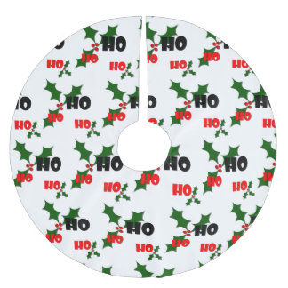 Ho Ho Ho Mistletoe Tree Skirt