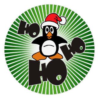 Ho Ho Ho - Penguin - merry christmas + your backgr Announcement