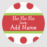 Ho Ho Ho Personalised Christmas Sticker