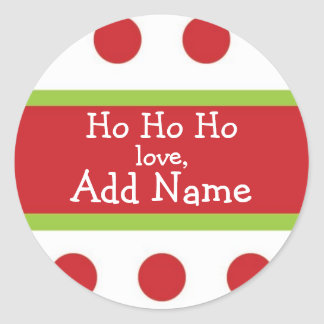 Ho Ho Ho Personalized Christmas Sticker