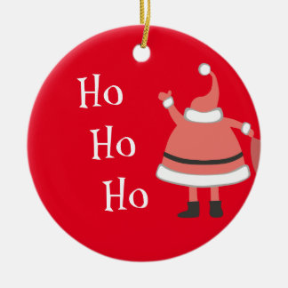 Ho Ho Ho Personalized Santa Ceramic Ornament