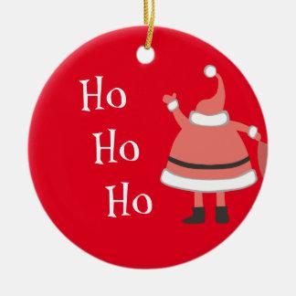 Ho Ho Ho Personalized Santa Round Ceramic Decoration