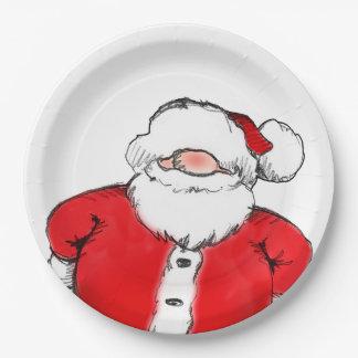 HO! HO! HO! Santa Christmas Party Paper Plates