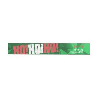 Ho Ho Ho Santa Christmas Red Green Modern Holiday Wraparound Return Address Label