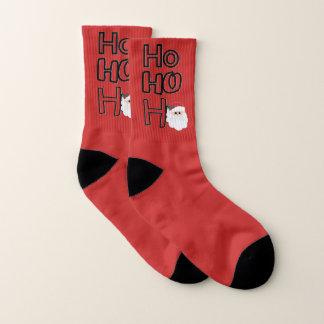 Ho-Ho-Ho Santa Christmas Sock 1
