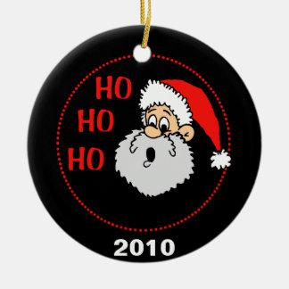 Ho Ho Ho Santa Claus Round Ceramic Decoration