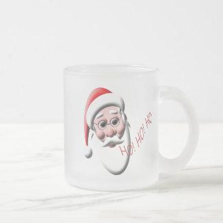 Ho!Ho!Ho! Santa Frosted Glass Christmas Mug
