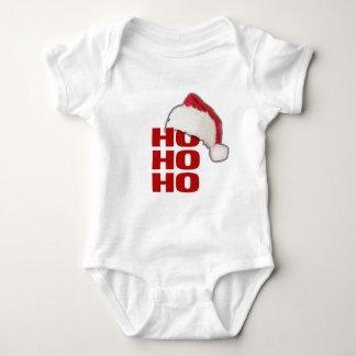 Ho Ho Ho Santa Hat Baby Bodysuit