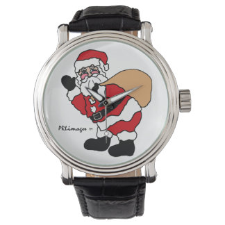 Ho Ho Ho Santa Leather Strap Watch