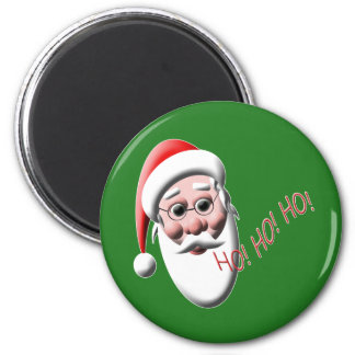 Ho!Ho!Ho! Santa 6 Cm Round Magnet