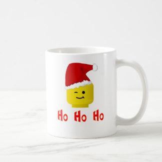 Ho Ho Ho Santa Minifig Head Coffee Mugs
