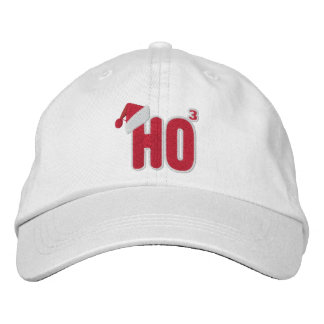 Ho Ho Ho Santa Nerd Embroidered Hats