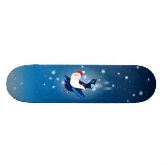 Ho ho ho! Santa on the airplane, skate Custom Skateboard