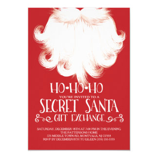 HO HO HO Secret Santa Christmas Party Card