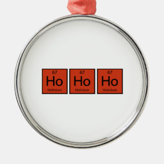 Ho Ho Ho Silver-Colored Round Decoration