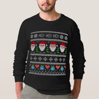 Ho! Ho! Ho! Ugly Christmas Sweater Hoodies, T-shir