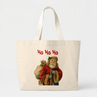 Ho Ho Ho Vintage Style Father Christmas Tote Bags