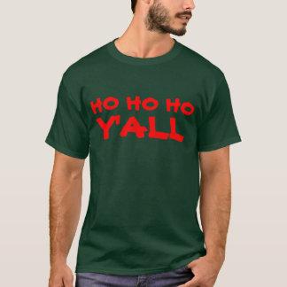 """Ho Ho Ho Y'all"": HillBilly Santa Humor T-Shirt"