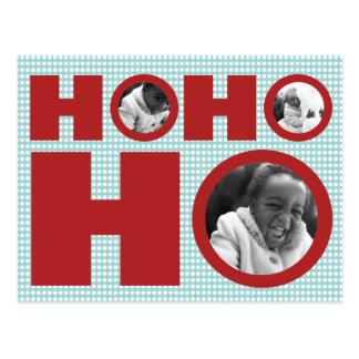 Ho Ho Holiday Photo Postcard