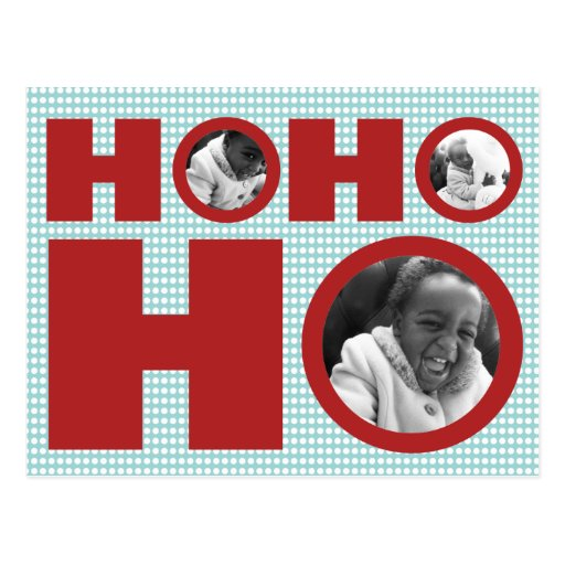 Ho Ho Holiday Photo Postcard