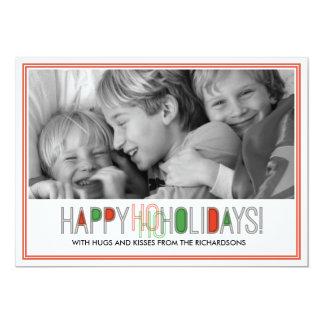 Ho Ho Holidays x1 13 Cm X 18 Cm Invitation Card