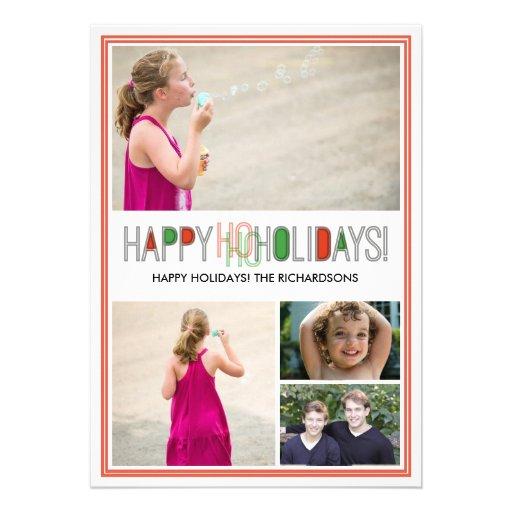 Ho Ho Holidays x4 Personalized Invite