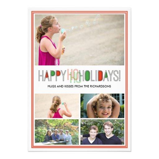 Ho Ho Holidays x5 Custom Invites