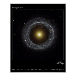 Hoag's Object Hubble Telescope Photo Poster