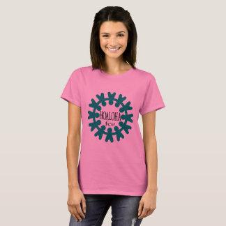 Hoaloha Womens Pink Tshirt - Large Front Design