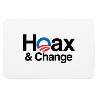 HOAX AND CHANGE RECTANGULAR PHOTO MAGNET