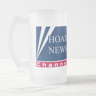 Hoax News Parody Frosted Glass Beer Mug