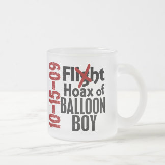 Hoax Of Balloon Boy Frosted Glass Mug