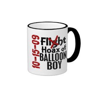 Hoax Of Balloon Boy Ringer Mug