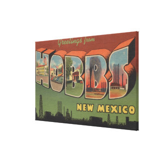 Hobbs, New Mexico - Large Letter Scenes Canvas Print