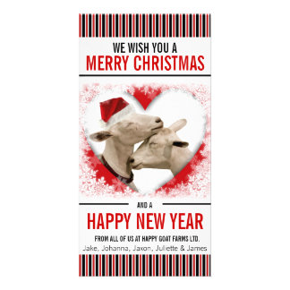 Hobby or Goat Farm Christmas Picture Card