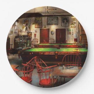Hobby - Pool - The billiards club 1915 Paper Plate