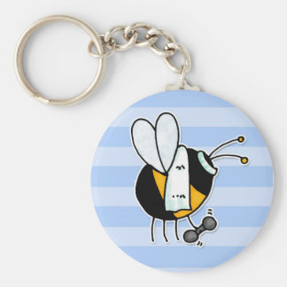hobby - rather bee at the gym no txt basic round button key ring