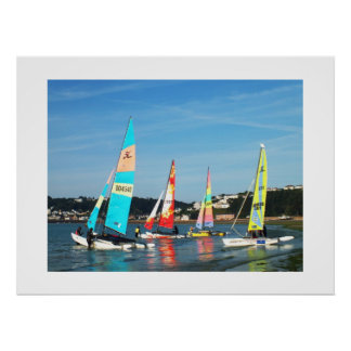 Hobie cats ready to sail poster