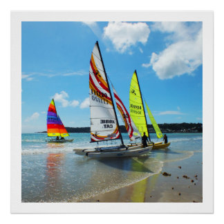 Hobie sailing boats in Jersey Poster