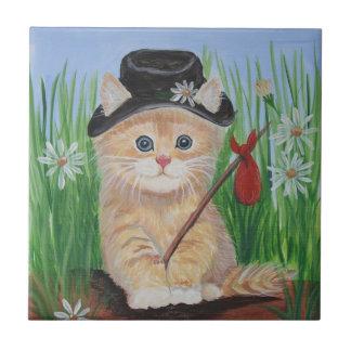 Hobo Cat Ceramic Tile