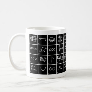 Hobo Signs and Symbols with meanings Series #2 Coffee Mug
