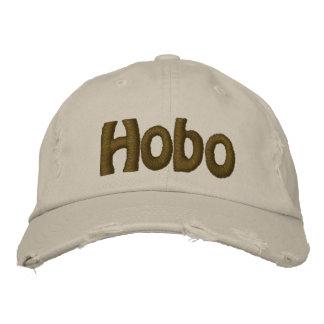 Hobo text embroidered baseball caps