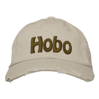 Hobo text embroidered hat